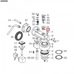 Уплотнитель OR 0119, ø 20,32x15,08x2,62 мм, EPDM, 1186414