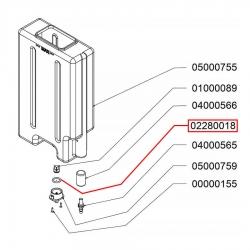 Уплотнитель на бункер воды Nuova Simonelli Microbar, 02280018