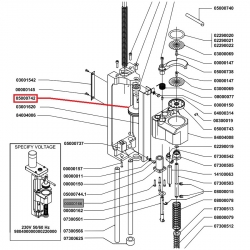 Верхний поршень ø 43 мм заварного узла Microbar Nuova Simonelli, 05000742
