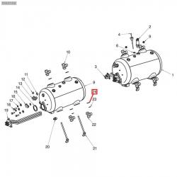 Уплотнитель из меди 28х22х3 мм, SVTMG015