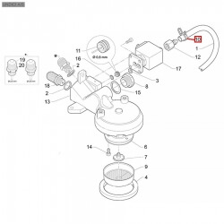 Хомут пружинный ø11-11,6 мм, 08000456