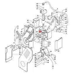 Уплотнитель OR 04131 ø 32.93 - 3.53 мм, красный силикон, 02280009