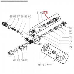 Уплотнитель OR 02056, ø 17,56x14x1,78 мм, EPDM, 1186223