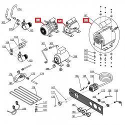 Электродвигатель помпы мод. C010709, 150 Вт, 230 В, 50/60 Гц кон. 6 мФ Sanremo, 10252080A