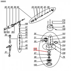 Уплотнитель OR 03187, ø 52,54x47,3x2,62 мм, EPDM, 3160044