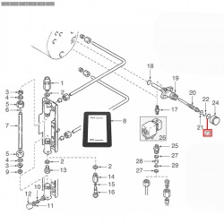 Уплотнитель OR 02087, ø 25,51x21,95x1,78 мм, EPDM, 3243382