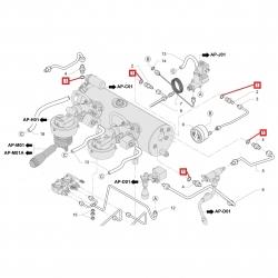 Уплотнитель плоский медный  ø 18x14x1.5 мм, 6.4 мм, 12153