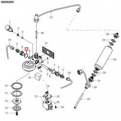 Уплотнитель OR 03087, ø 27,13x21,89x2,62 мм, силикон, 1186796