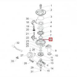 Пыльник горизонтальной кофемолки фетровый ø 45x39x4 мм Saeco, 140360500