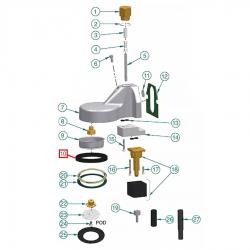 Уплотнитель холдера 73x57x10 мм, 1486724