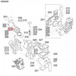 Уплотнитель плоский EPDM ø 11x8x1,4мм Saeco, 11021334