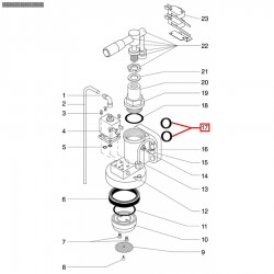 Уплотнитель OR R18, ø 30,2x23x3,6 мм, EPDM, 1786157