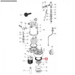 Уплотнитель холдера ø 73x58x8 мм Оригинал, Rancilio, 36301030
