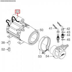 Конденсатор 5мкФ 450В 50/60Гц, -25 +85°C, ø 28xh55мм, 3068008