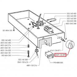 Ручка пакетного переключателя черная Ø40мм, вал-5х5мм L36мм, Faema, Cimbali, Casadio, 3529133899