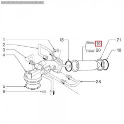 Теплообменник ø 42x150 мм Cimbali, 457077008