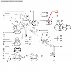 Кольцо теплообменника Cimbali, 457165020