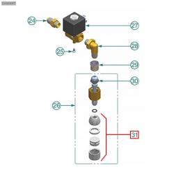 Распылитель (форсунка-жиклер) воды M10x1, 10402140