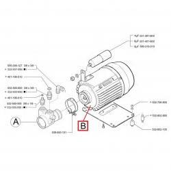 Электродвигатель помпы мод. C0111, 275 Вт, 230 В, 50 Гц, кон. 4 мкФ, Faema, Cimbali, 530295400