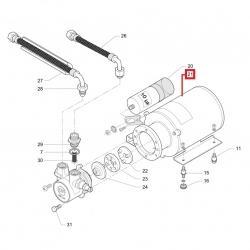 Электродвигатель помпы YSC102/60-4 150Вт, 230В, 50Гц, кон. 10мФ, Faema, Cimbali, Casadio, 530298120