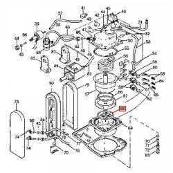 Уплотнитель рожка BAR-M200 Delonghi, 536328