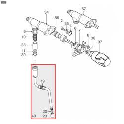 Трубка пара ø 10 мм в сборе 280 мм Cimbali, 537042500