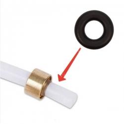 Уплотнитель на тефлоновую трубку черный, 3.69x1.78, 64054