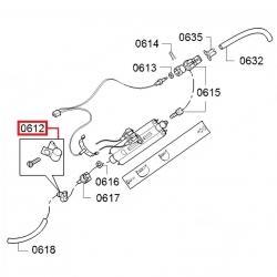 Зажим (хомут) армированного шланга с винтом нерж. 8-10 мм, 614610