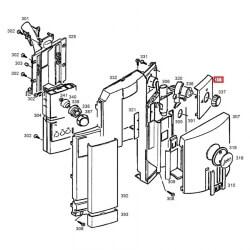 Панель передняя правая регулятора режимов Impressa C5 Jura, 66231