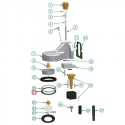 Прокладка резиновая ø 73x59x1 мм EPDM, 1190002