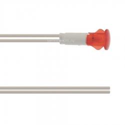 Индикатор красный 240 В, ø 13 -10 мм, 120°C, 200 мм, 950028