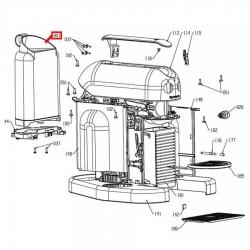 Бункер воды для кофеварки Delonghi Maestria, ES0088079