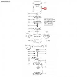 Корпус дозатора пласт. ø 120x68 мм Mazzer, S000CIA01