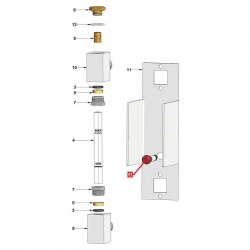 Индикатор красный 230 В, ø 20 мм голова, посадочное отверстие ø 10 мм, 120°C, SE0970FR