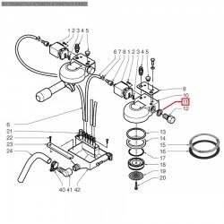 Уплотнитель плоский ø 24x18x2 мм, PTFE, 12012007