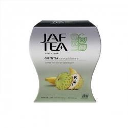 Чай JAF TEA Банан и соусап, зеленый чай крупнолистовой, 100 г