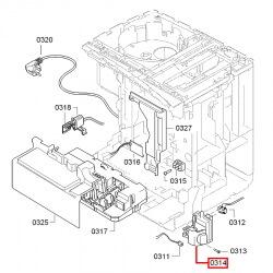 Выключатель черный для Bosch VeroBar, Siemens EQ.7, 00627603