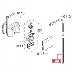 Трубка контейнера молока Bosch / Siemens, 12011773 / 00754124