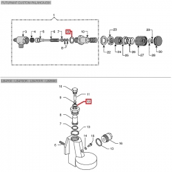 Плоский уплотнитель PTFE ø 22x16x2 мм, 02455103