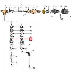 Уплотнитель 03037 EPDM, 2.62 мм, D9.19 мм, 07763204