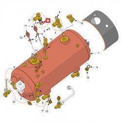 Уплотнитель OR 02062 EPDM-FDA, 1.75 мм, D15.6 мм, Futurmat, Gaggia, Italcrem, 08603500