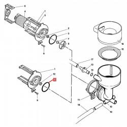 Уплотнитель OR 03131, ø 38,23x32,99x2,62 мм, силикон, 1186920