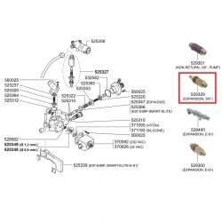 """Клапан расширительный 10-14 Бар, ø 3/8""""- ø 10 мм, 56152"""