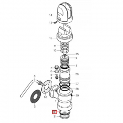Уплотнитель холдера 67x56x6 мм, 1186656