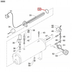 Уплотнитель OR 06187, OR 0151, ø 57,68x47x5,34 мм, EPDM, 3186013