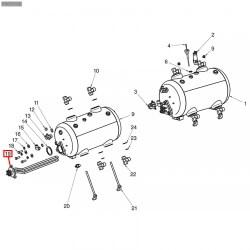 ТЭН 3,5 кВт, 230В, длина 350 мм - 4 конт., фланец 78х78 мм, 401834