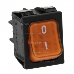 Оранжевый двухполюсный выключатель 16A 250В, 3319934