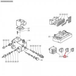 Выключатель клавишный оранжевый 16А, 250В, 11x30 мм, макс. 120°C, 3319968