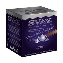 Чай Svay Шоколадное искушение, черный с шоколадом, в пирамидках, 20х4 г