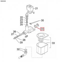 Плоский уплотнитель ø 22x17x1.5 мм, тефлон, 401183010